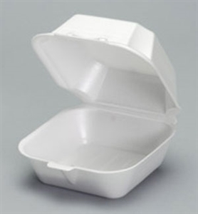Sandwich Hinged Foam Large White - 5.63 in. x 5.75 in. x 3.25 in.
