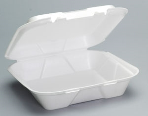 1 Compartment Tray Snaplock Foam Hinged White - 9.25 in. x 9.25 in. x 3 in.