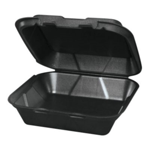 Snap-It 1 Compartment Vented Foam Black Container - 9.25 in. x 9.25 in. x 3 in.