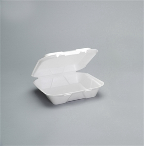 1 Compartment Vented Hinged Tray Foam White - 9.25 in. x 9.25 in. x 3 in.
