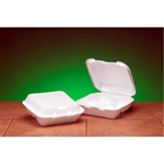 3 Compartment Hinged Foam Snap- It Container White - 8 in. x 8 in. x 3 in.
