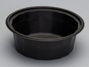 Smart Set Base Foam Microwave Safe Black Container - 32 oz.