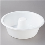 Angel Food Cake 10 in. Tray White Shallow - 9.88 in. x 3.63 in.