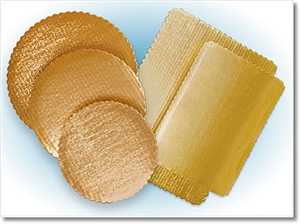 Gold Corrugated Scalloped Cake Circle - 9 in.