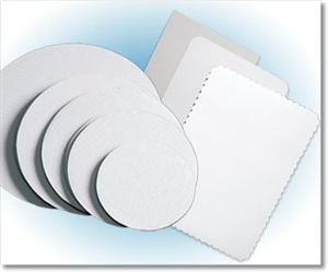 White Grease Resistant Bakery Cake Pad - 13.75 in. x 9.75 in.