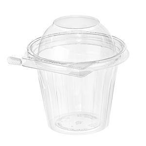 Safe T Gard Plastic Fruit Cup Clear - 12 Oz.
