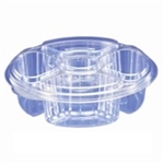 4 Compartment Platter Combo With Dip Holder - 10.25 in.