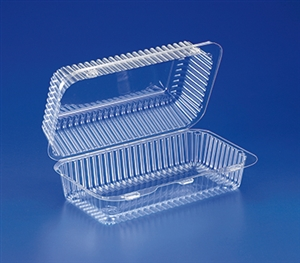 Clear Pet Hinged Container - 59.9 oz.