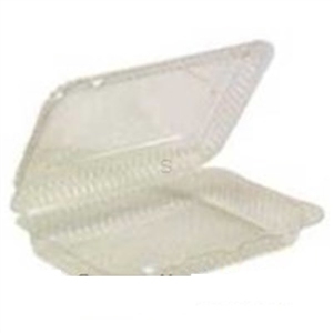 Hinged Container Plastic Clear - 9.38 in. x 6.75 in. x 2.19 in.