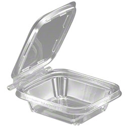 Safe-T-Fresh Tear Strip Hinged Deli Container Clear - 8 Oz.