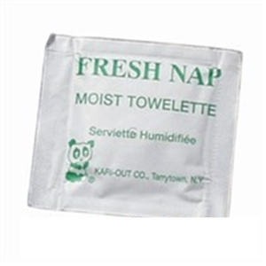 Fresh-Nap Moist Towelettes White Paper - 6 in. x 8 in.