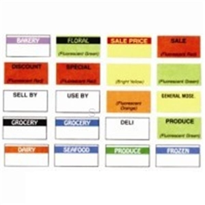 Black and White Grocery Label - 19 mm x 10 mm