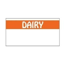 White and Orange Econoply Dairy Label - 19 mm x 10 mm