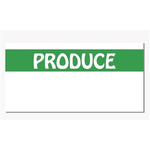 Green and White Produce Label For Monarch 1110 Gun - 19 mm x 10 mm