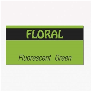 Fluorescent Green and Black Label - 19 mm x 10 mm