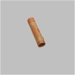 Penny Coin Crimped End Red Wrapper