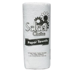 Select Choice White Household Roll Towel