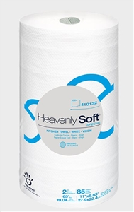 Heavenly Soft White 2 Ply Kitchen Roll Towel - 11 in. x  7.9 in.
