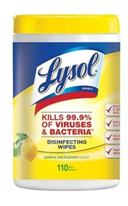Lysol Lemon and Lime Blossom Sanitizing Wipes