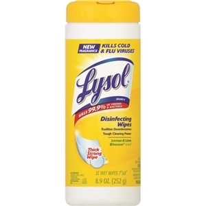Lysol Lemon and Lime Blossom Sanitizing Wipes - 7.5 in. x 8 in.