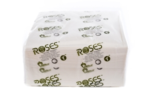 White Bleached 3 Ply Dinner Napkin - 17 in. x 17 in.