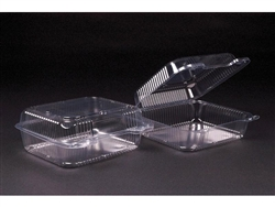Medium Square Hinged Clear Container - 8 in.