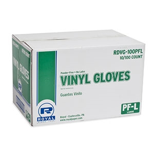 General Purpose Powder Free Vinyl Gloves Large Natural