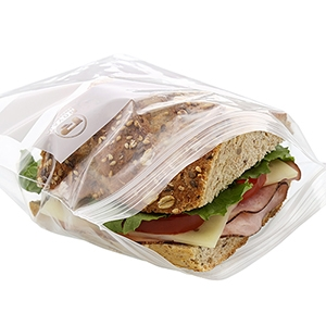LDPE Double Zipper Sandwich Bag Clear - 6.5 in. x 6 in.