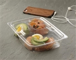 Clear Lid for 3 Compartment Snack Box Medium