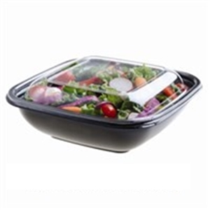 Dome Lid For Large Square Bowl Clear Pete - 9 in. x 9 in.