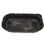 Black 1 Compartment Ovenable Entree - 12 in. x 7 in.