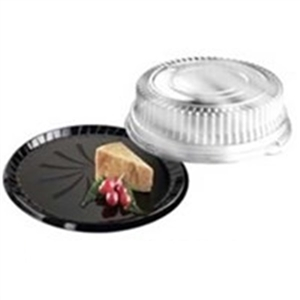 Crystal Clear Low Dome Lid For 12 in. Round Platters