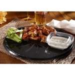 Flat Black Tray With Hi-Dome Inject Molded - 16 in.