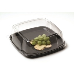 Mozaik Black Square Platter and Dome Lid - 16 in.