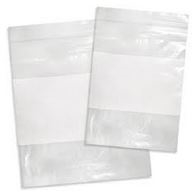 Clear with White Block 2 Mil Reclosable Bag - 6 in. x 9 in.