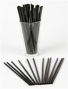 Jumbo Straw Black Wrapped - 7.75 in.