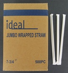 7.75 Inch Wrapped Jumbo Translucent Straws