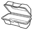 Medium Hoagie Foam Hinged Container