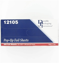 12 x 10.75 Inch Interfolded Foil Sheets