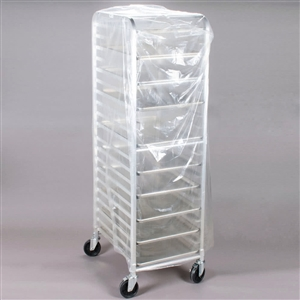 Bun Pan Clear Rack Cover - 26 in. x 26 in. x 80 in.