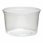 Clear Polypropylene Deli Cup - 16 oz.