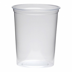 Clear Polypropylene Deli Cup - 32 oz.