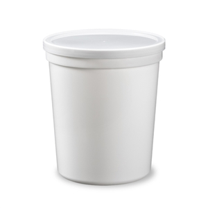 White Deli Plastic Container and Lid - 16 oz.