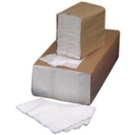 White One Eighth Fold 2 Ply Dinner Napkin - 15 in. x 16.25 in.