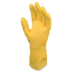 General Purpose Flocked Lined Latex Yellow Gloves - Medium