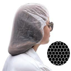 White Honeycomb Nylon Hairnet - 21 in.