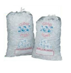 Polystyrene Clear Ice Bag - 7 in. x 4 in. x 24 in.