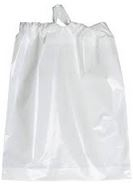 Drawtape Bag White with Green - 19 in. x 20 in.