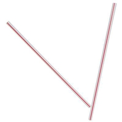 White and Red Jumbo Straw - 7.75 in.