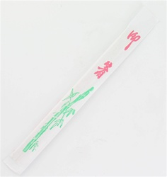 Bamboo Chopstick in White Paper Sleeve